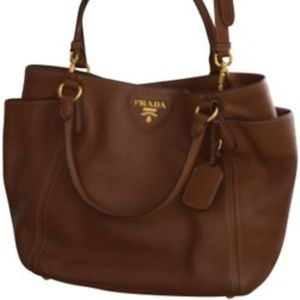 Prada Vitello Daino Tote Shopper Large Leather Bag